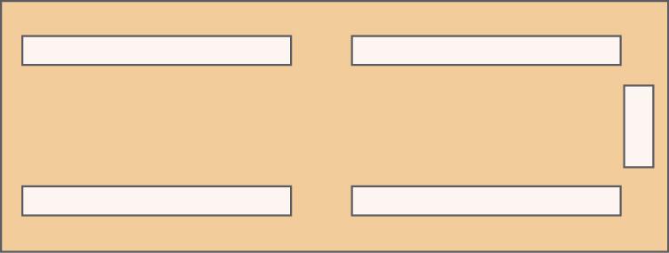 Rozloženie stolov pre max 100 osôb